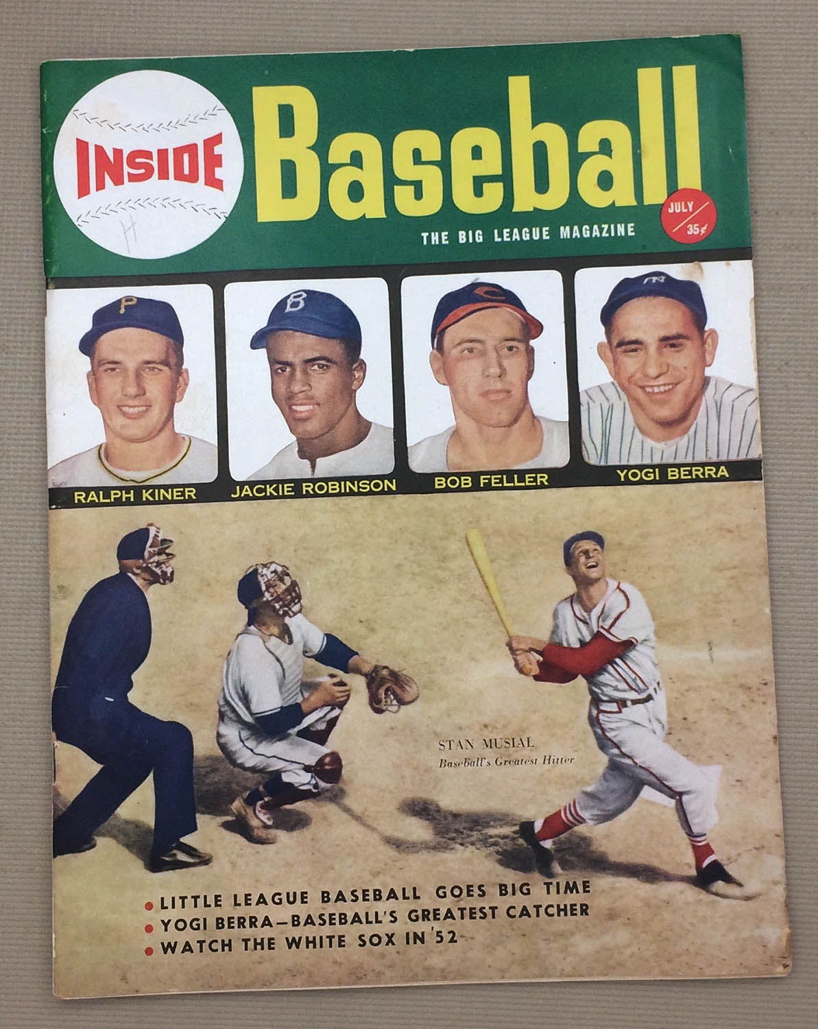 Inside baseball July 1952 Issue