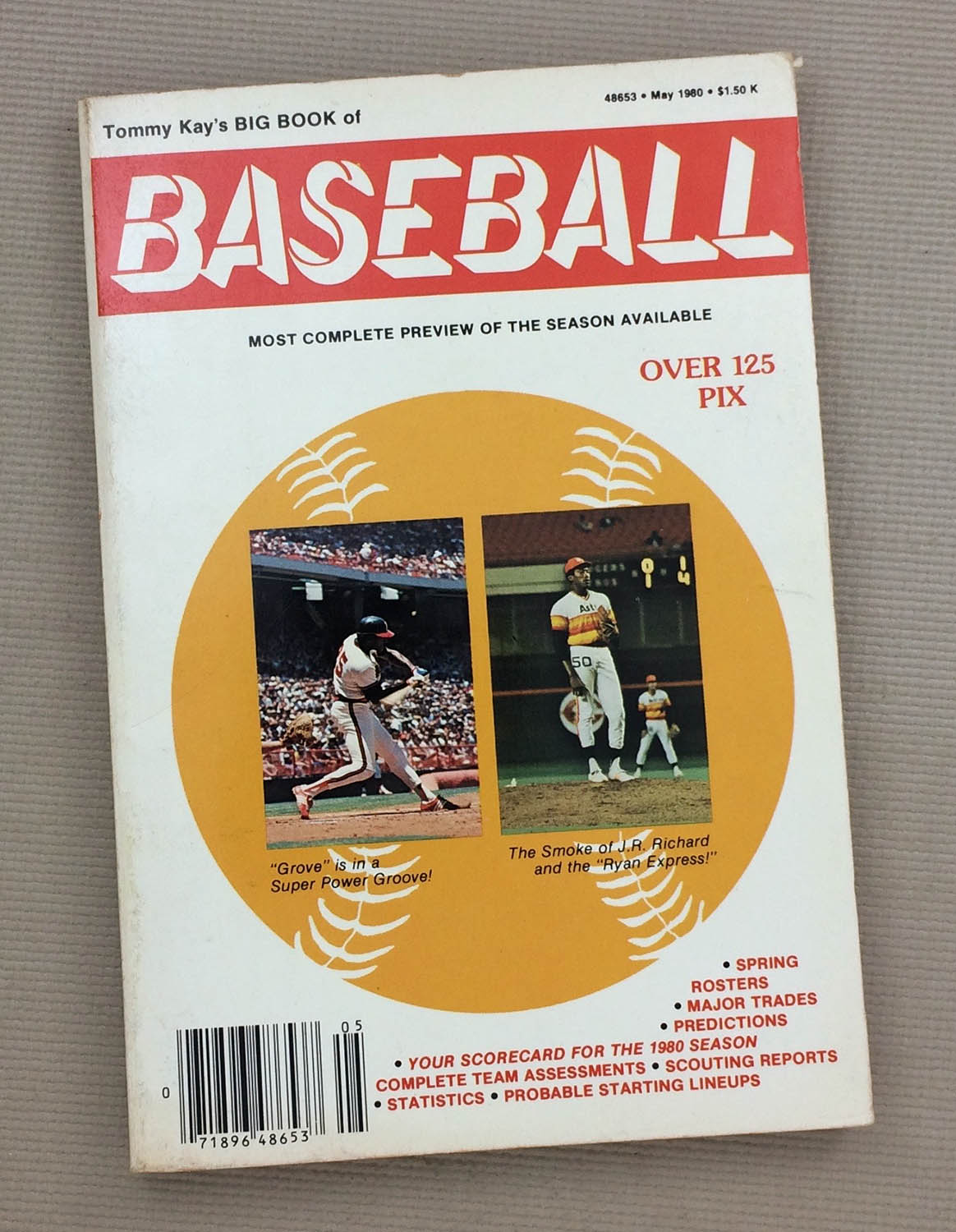 1980 Tommy Kays Big Book of Baseball