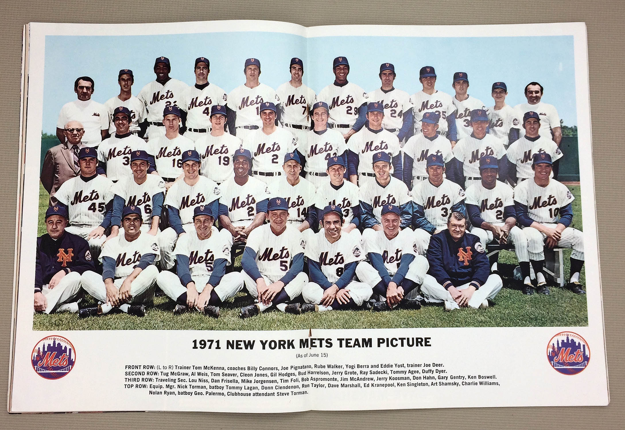 1971 New York Mets Team Picture
