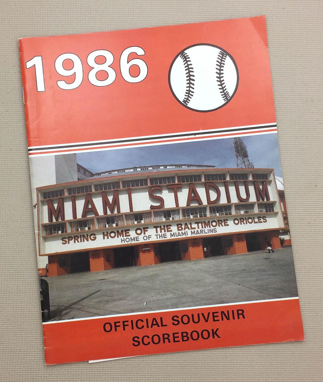 Orioles 1986 Pre Season Program