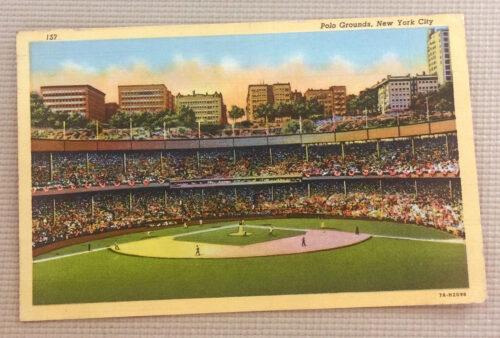 Vintage Polo Grounds Postcard