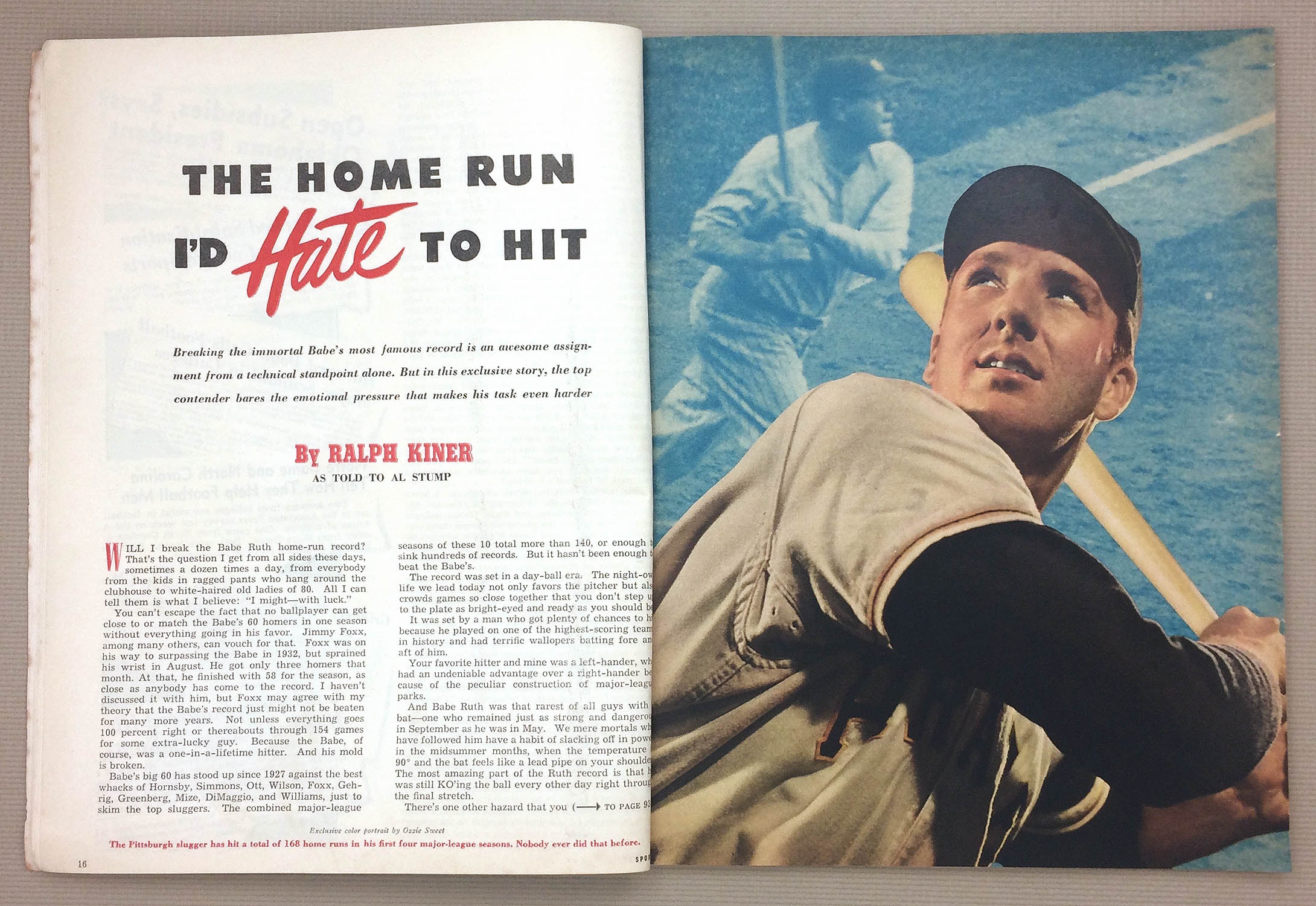 The Home Run I'd Hate to Hit by Ralph Kiner