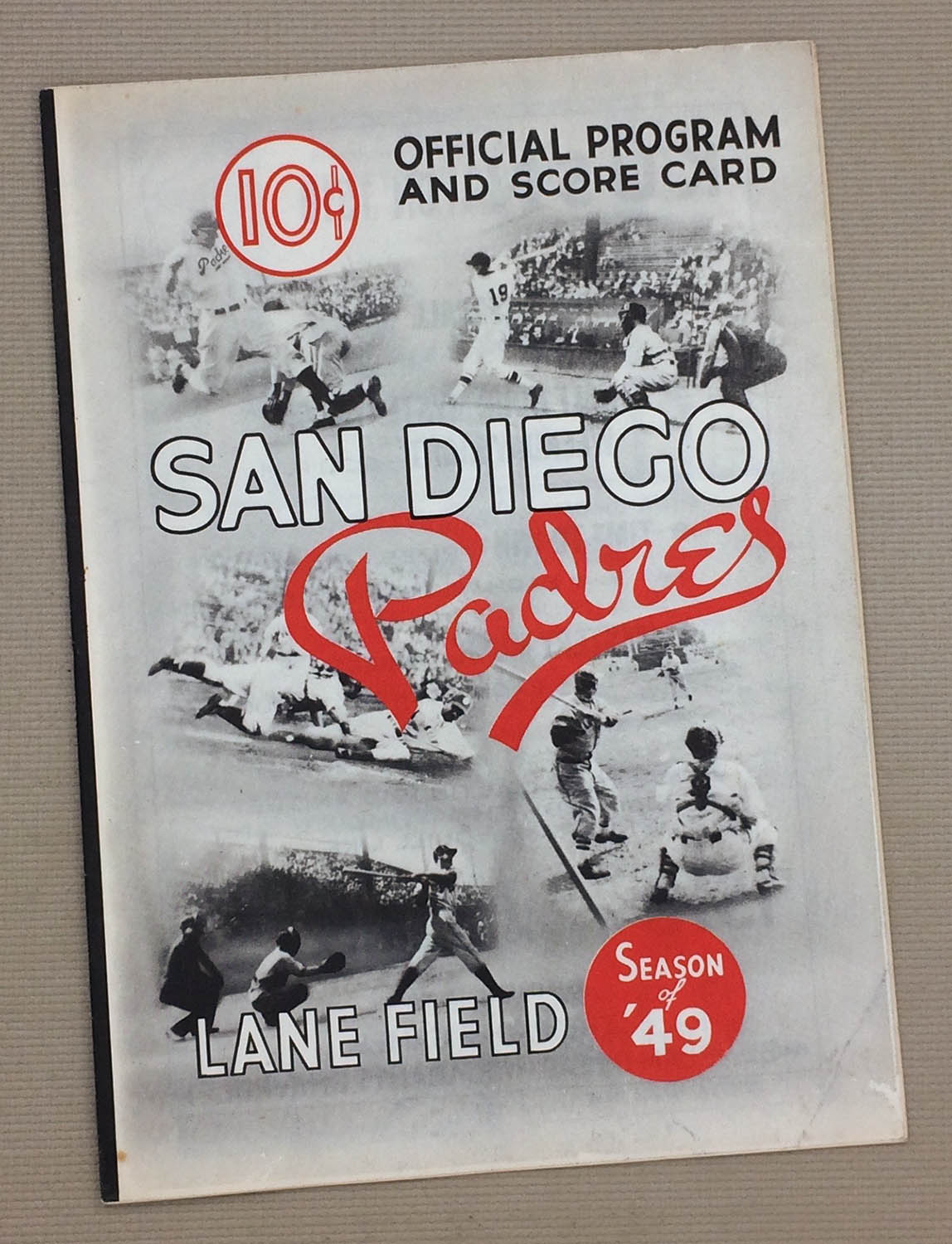 1949 San Diego Padres Program
