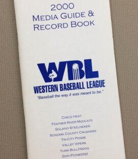 Western Baseball League 2000 Media Guide