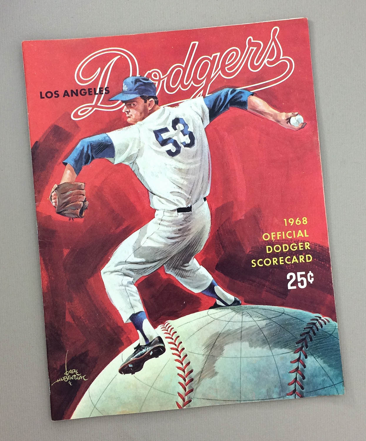 1968 Los Angeles Dodgers Program
