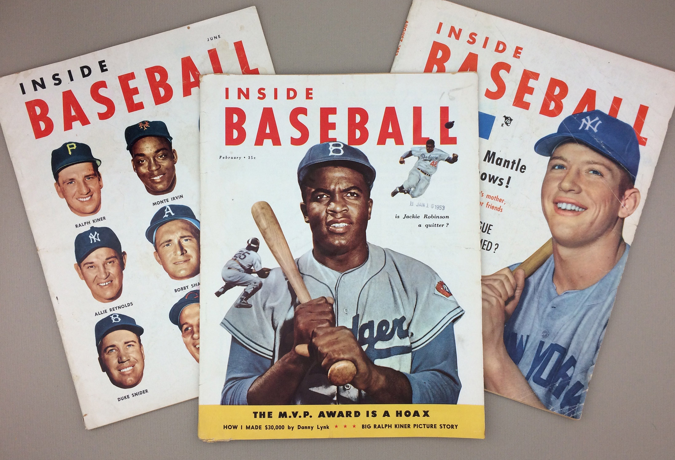 INSIDE BASEBALL Magazine 1953 3 Pack