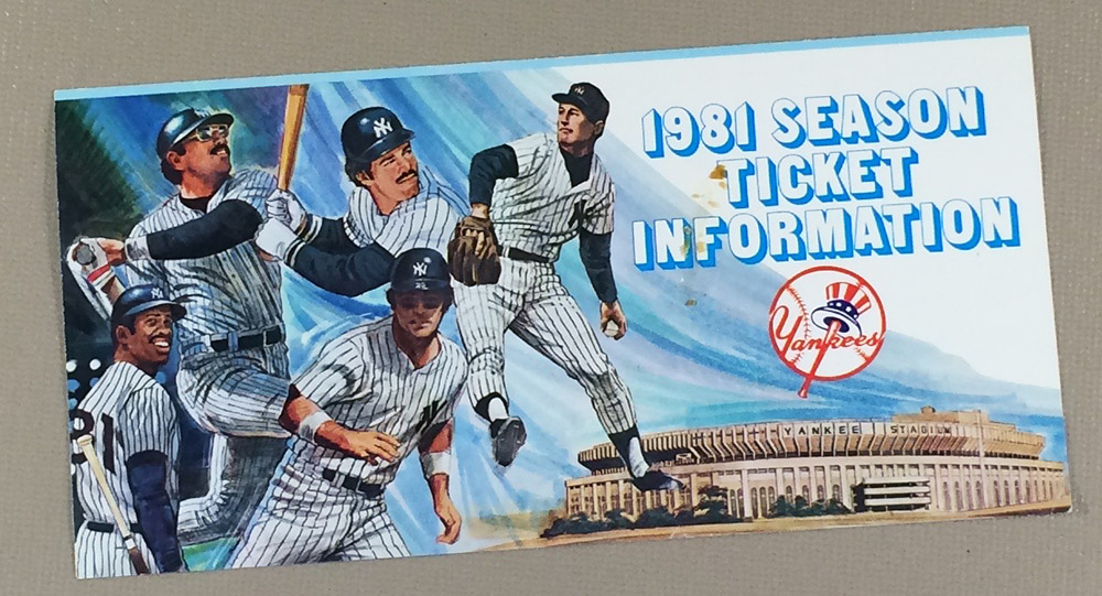 New York Yankees 1981 Brochure