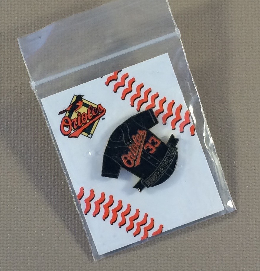 Baltimore Orioles Retired Number 33 Collectors Pin