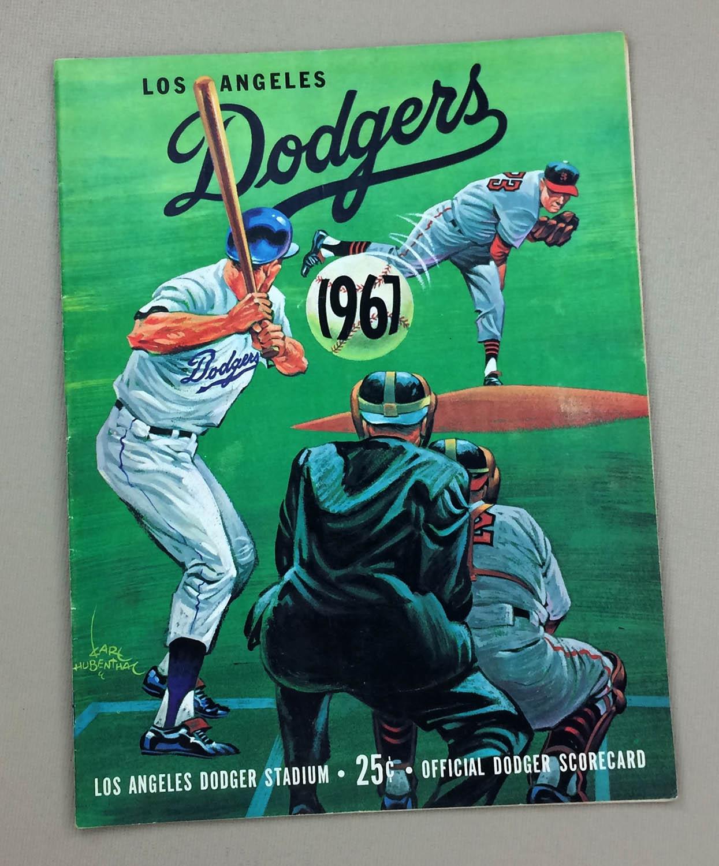 Dodgers 1967 scorecard