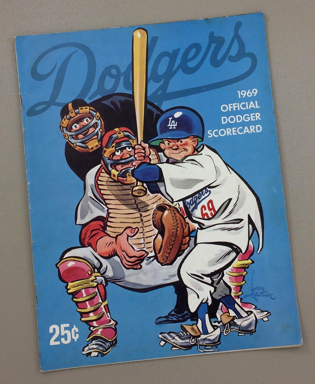 Dodgers 1969 scorecard