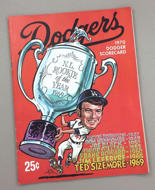 Dodgers 1970 scorecard