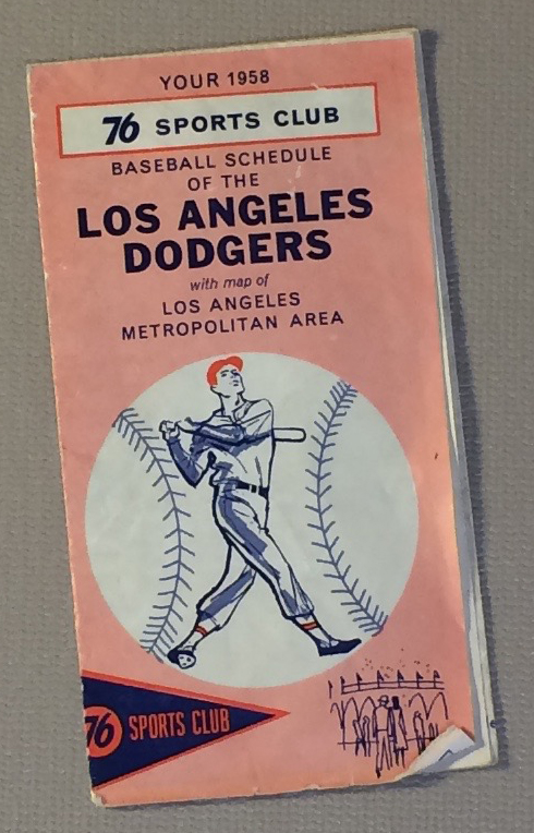 Los Angeles Dodgers 1958 Schedule