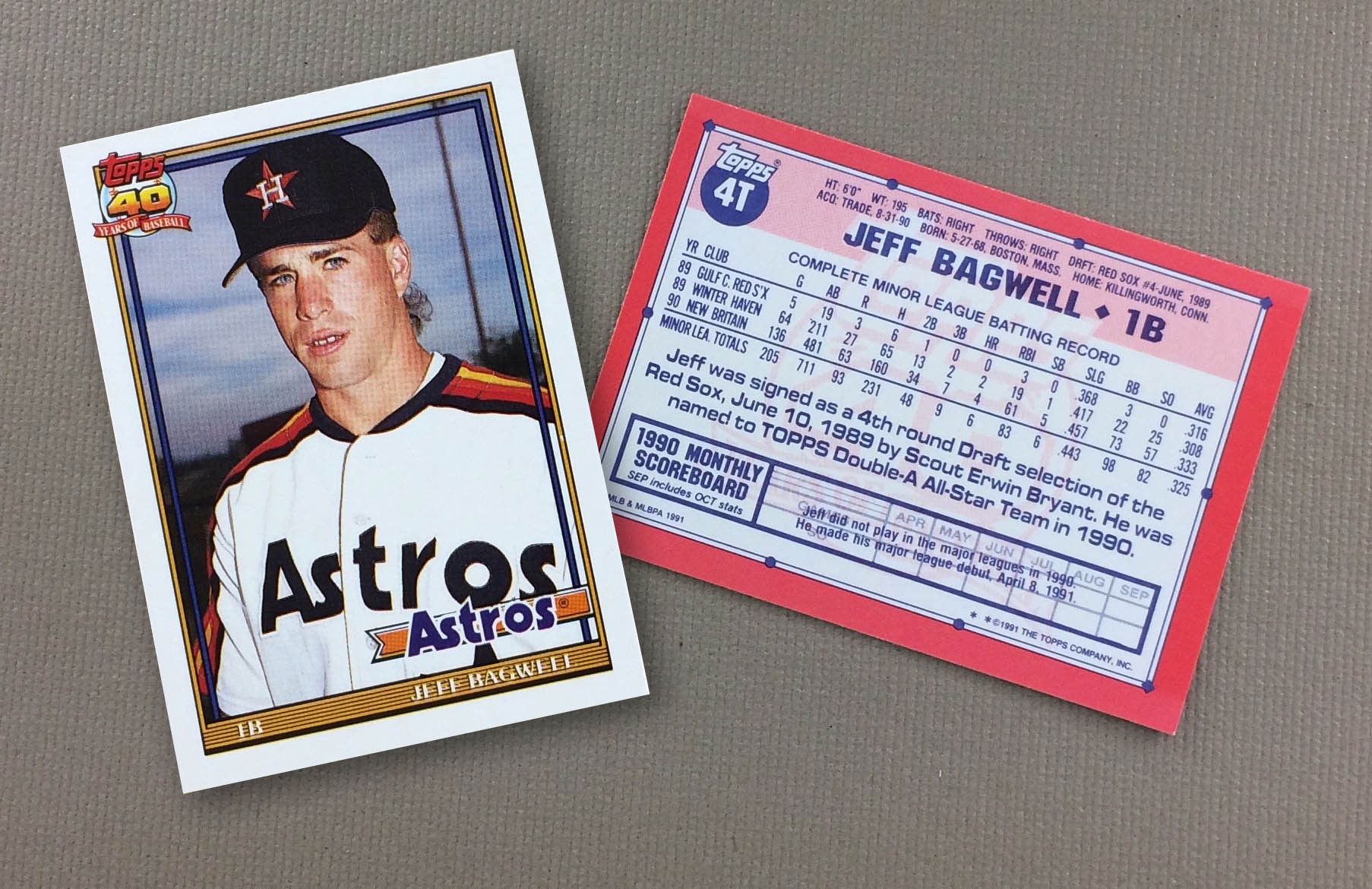 Jeff Bagwell Topps Rookie Card