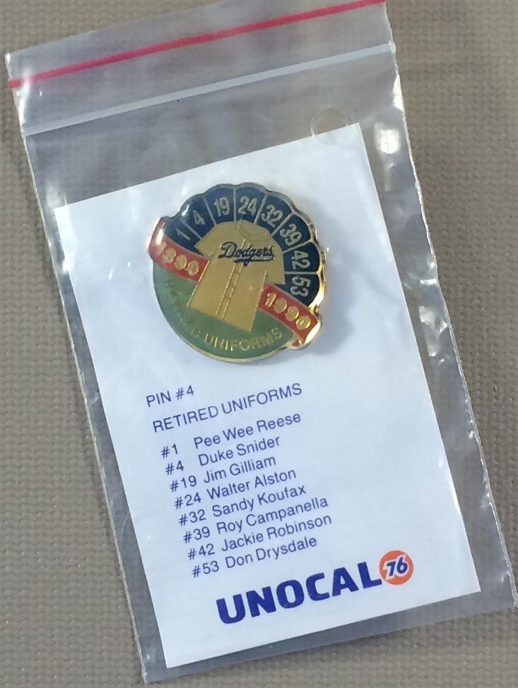 Los Angeles Dodgers 1992 Retired Uniforms Commemorative Pin
