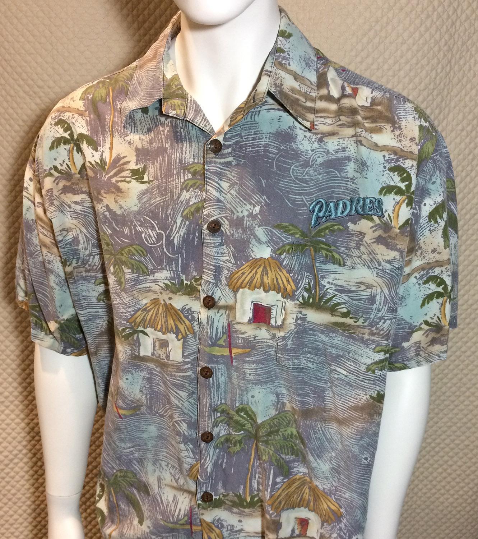 San Diego Padres Gray Hawaiian Shirt