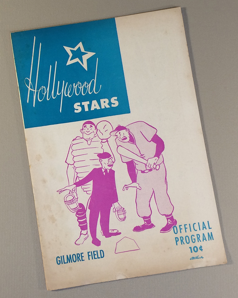 Hollywood Stars 1958 Baseball Program