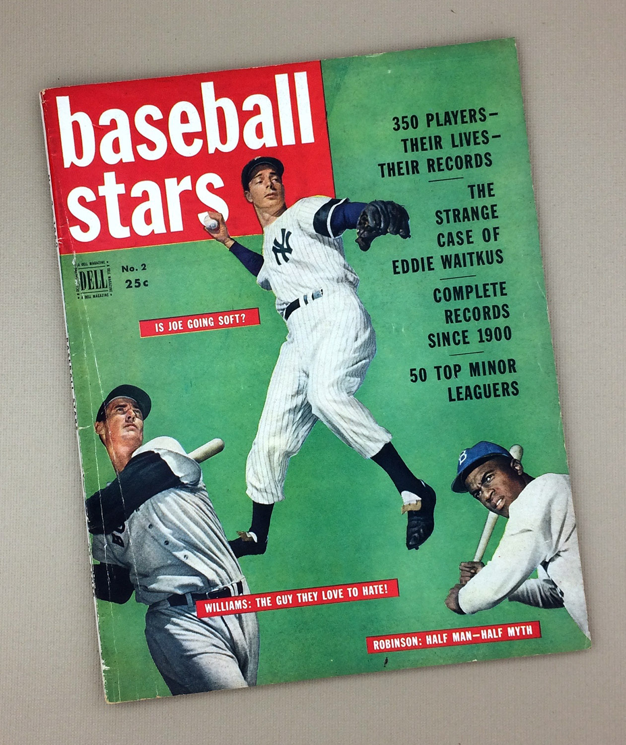 1950 Dell Baseball Stars Magazine