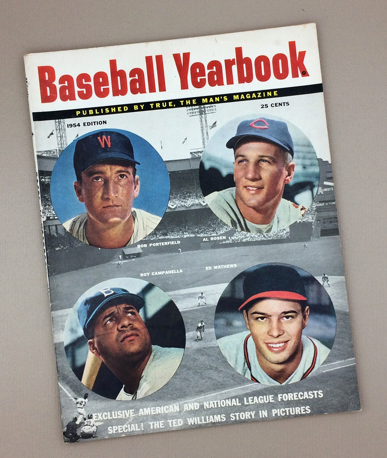 1954 BASEBALL YEARBOOK Magazine
