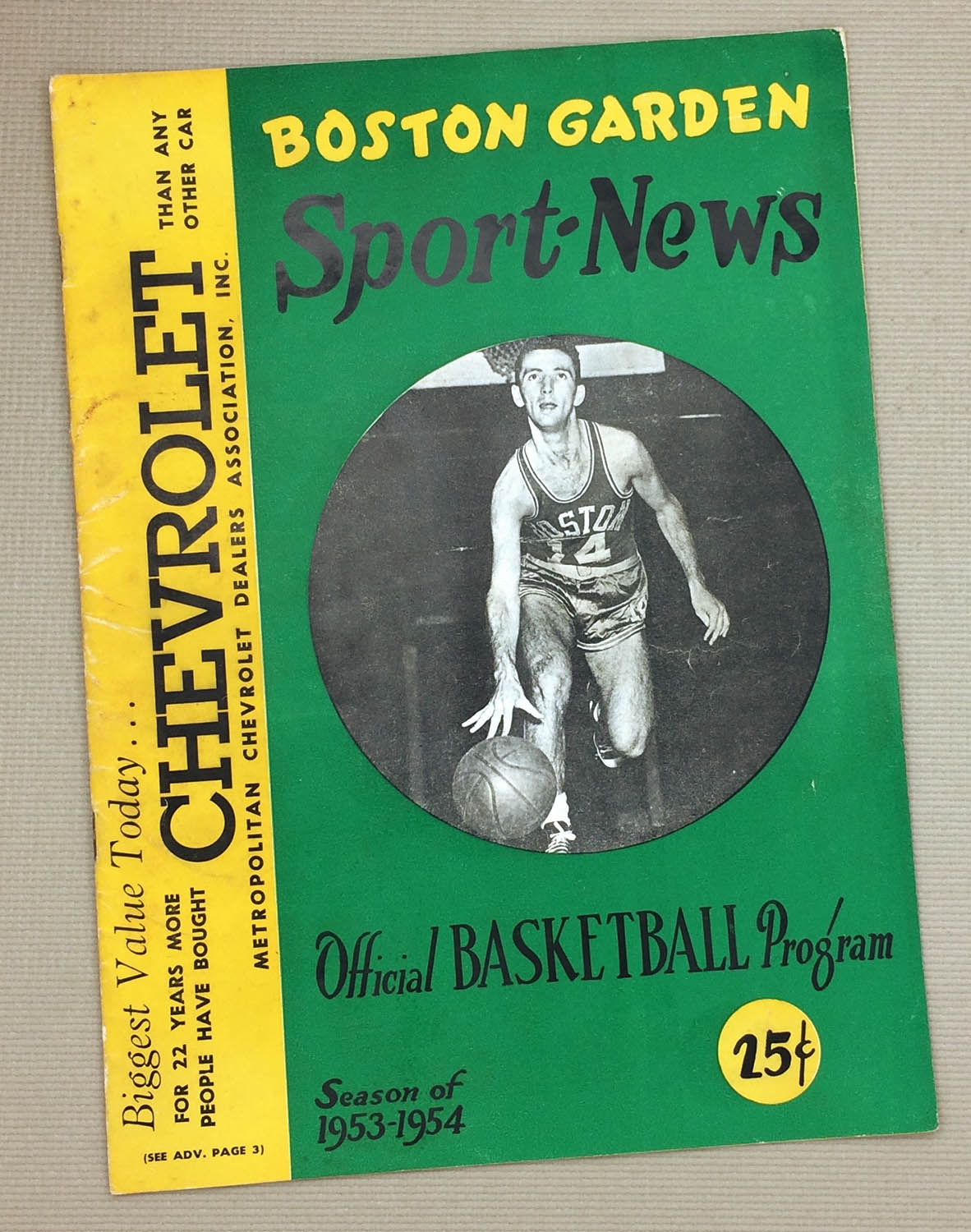 1953 Celtics Milwaukee Hawks Program