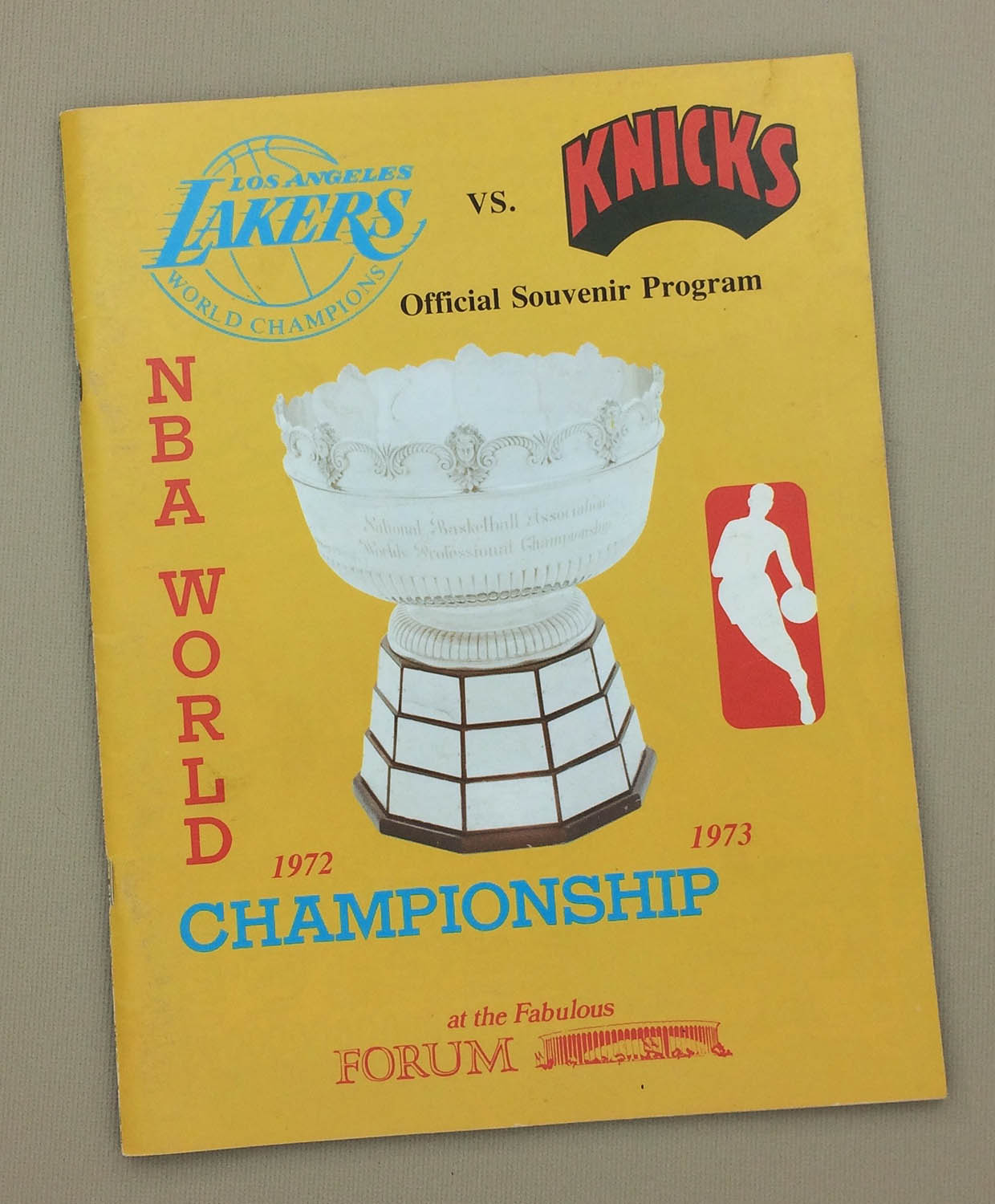Lakers Knicks 1972 Game 5 Program