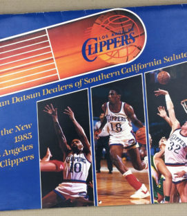 Los Angeles Clippers 1985 Calendar