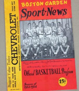 Boston Garden Sport-News, Feb 1954