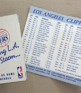 Los Angeles Clippers 1984-85 Schedule