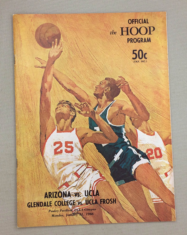 UCLA vs Arizona 1966 Basketball Program