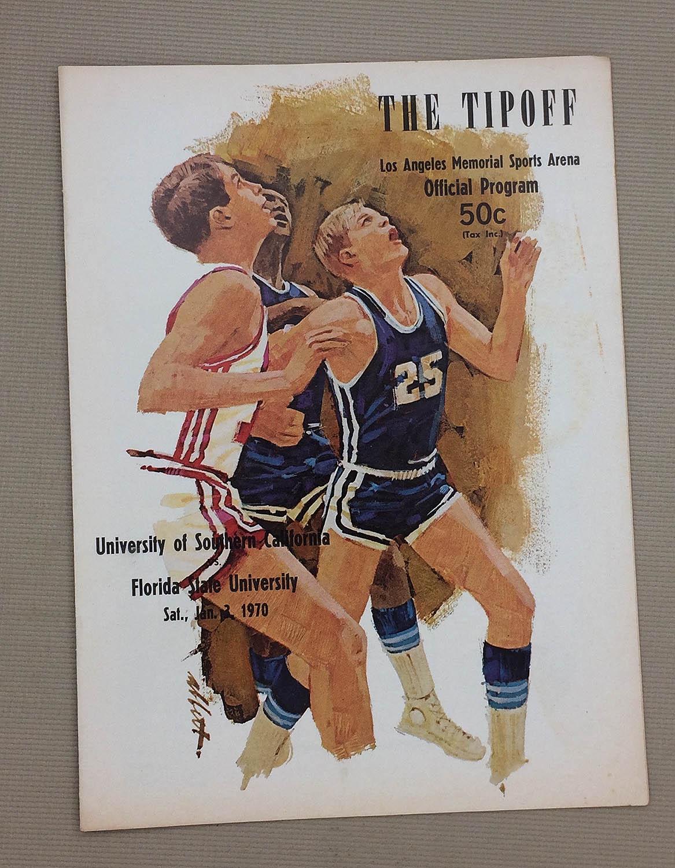 USC vs FSU 1966 Basketball Program