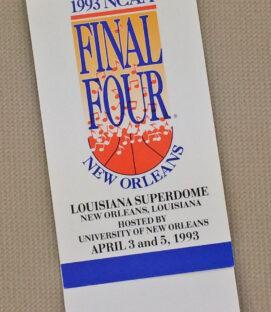 1993 NCAA Final Four Ticket Stub