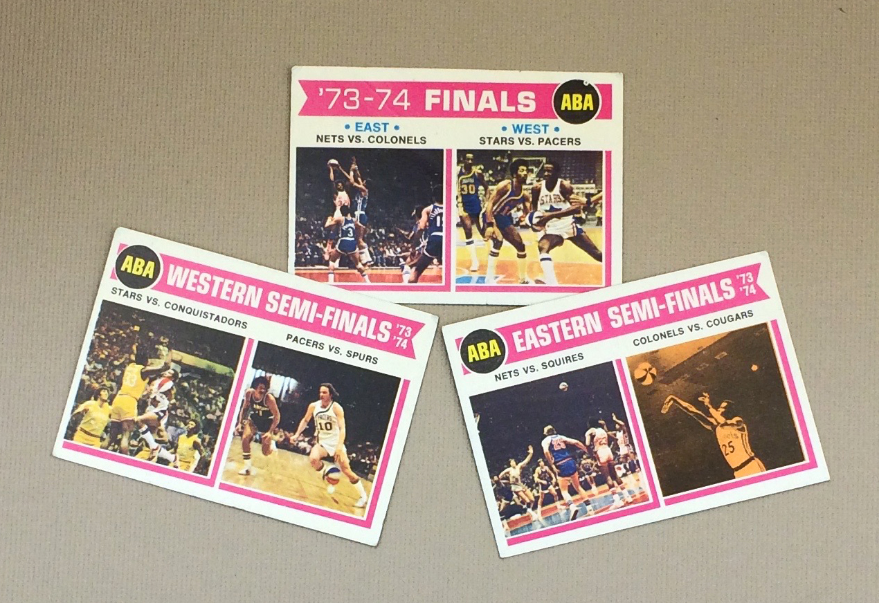 1973-74 ABA Playoff Matchup Collectors Card Set