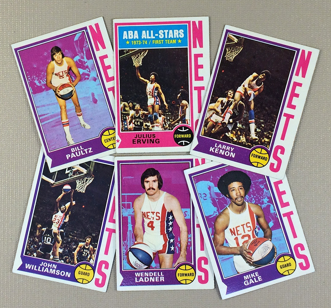1974-75 New York Nets Collectors Card Set