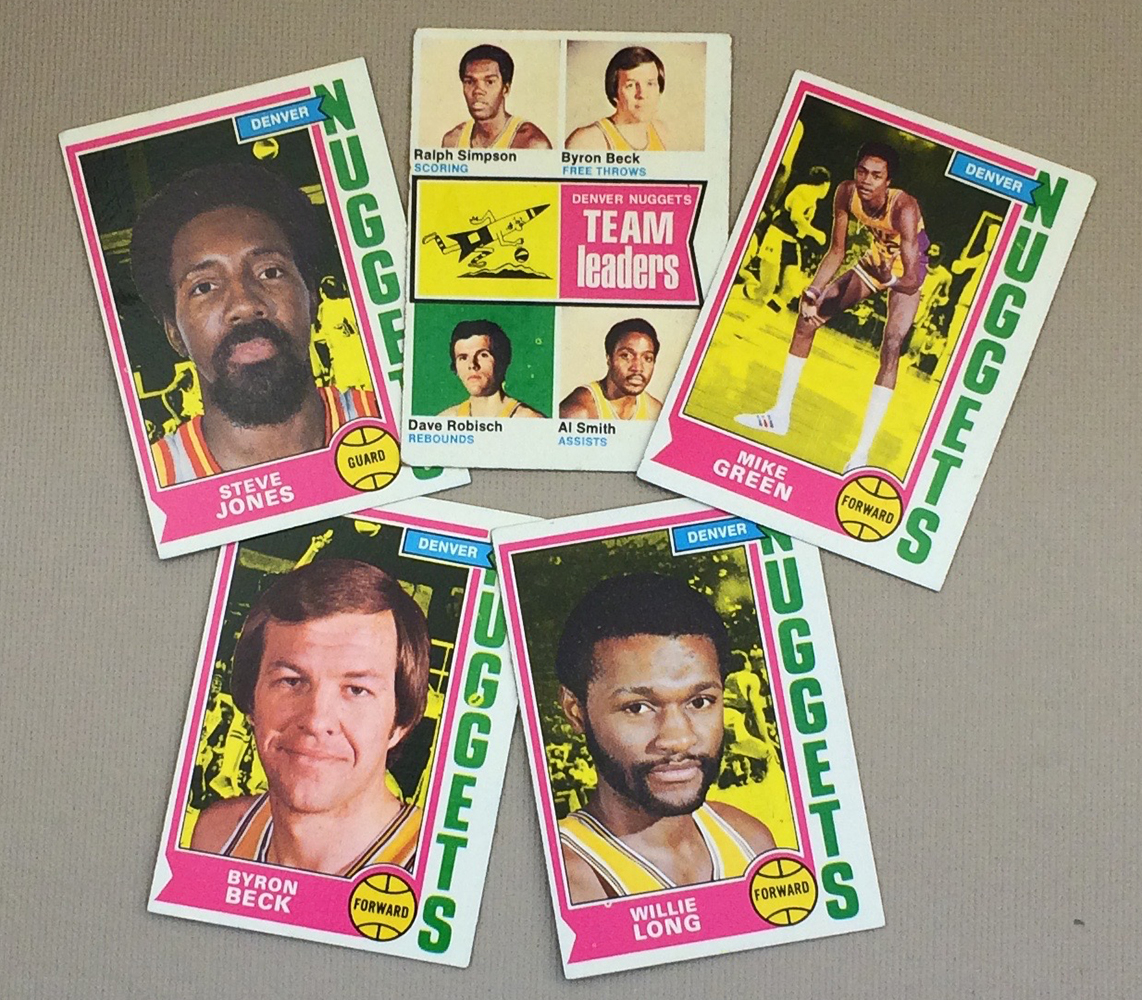 1974-75 Denver Nuggets Collectors Card Set
