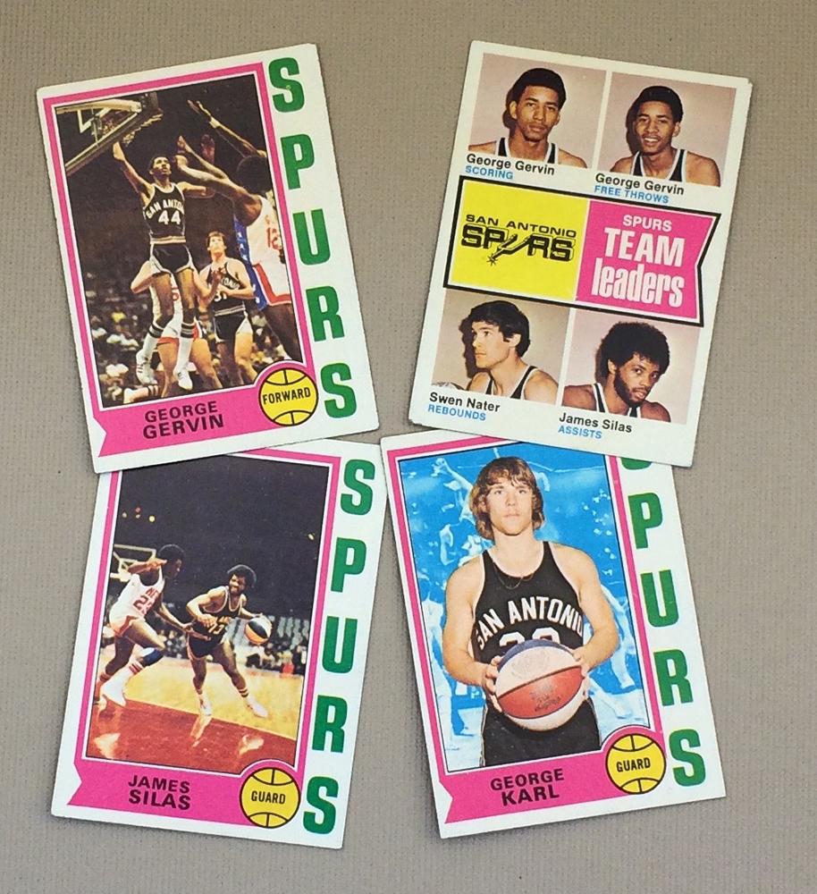 1974-75 San Antonio Spurs Collectors Card Set