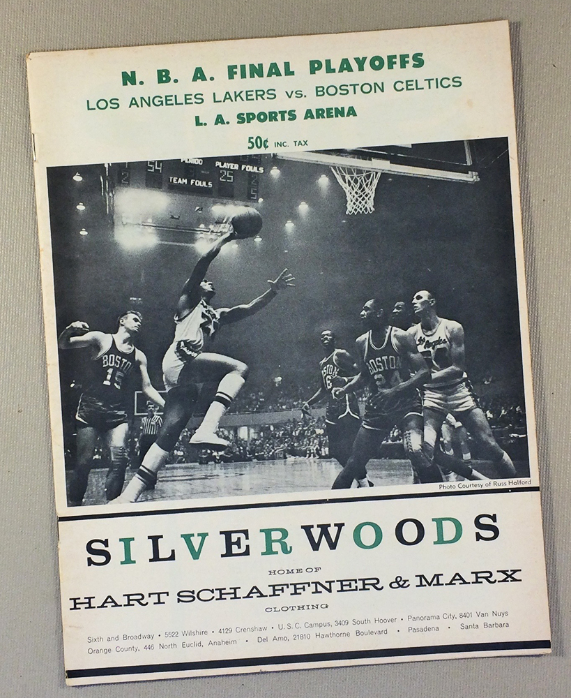 Lakers Celtics 1962-63 Playoff Program