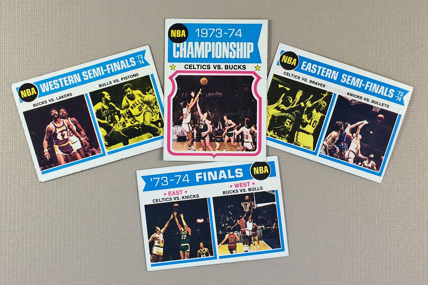 Topps NBA 1973-74 Playoff Collectors Card Set