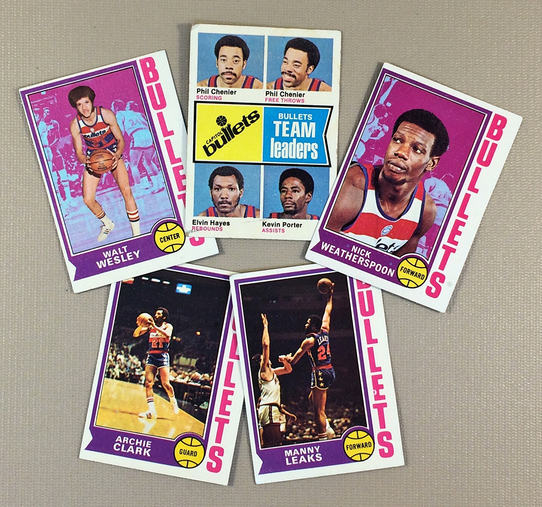 1974-75 Washington Bullets Collectors Card Set