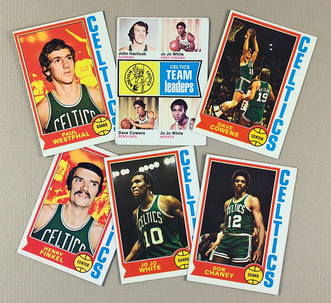 1974-75 Boston Celtics Collectors Card Set