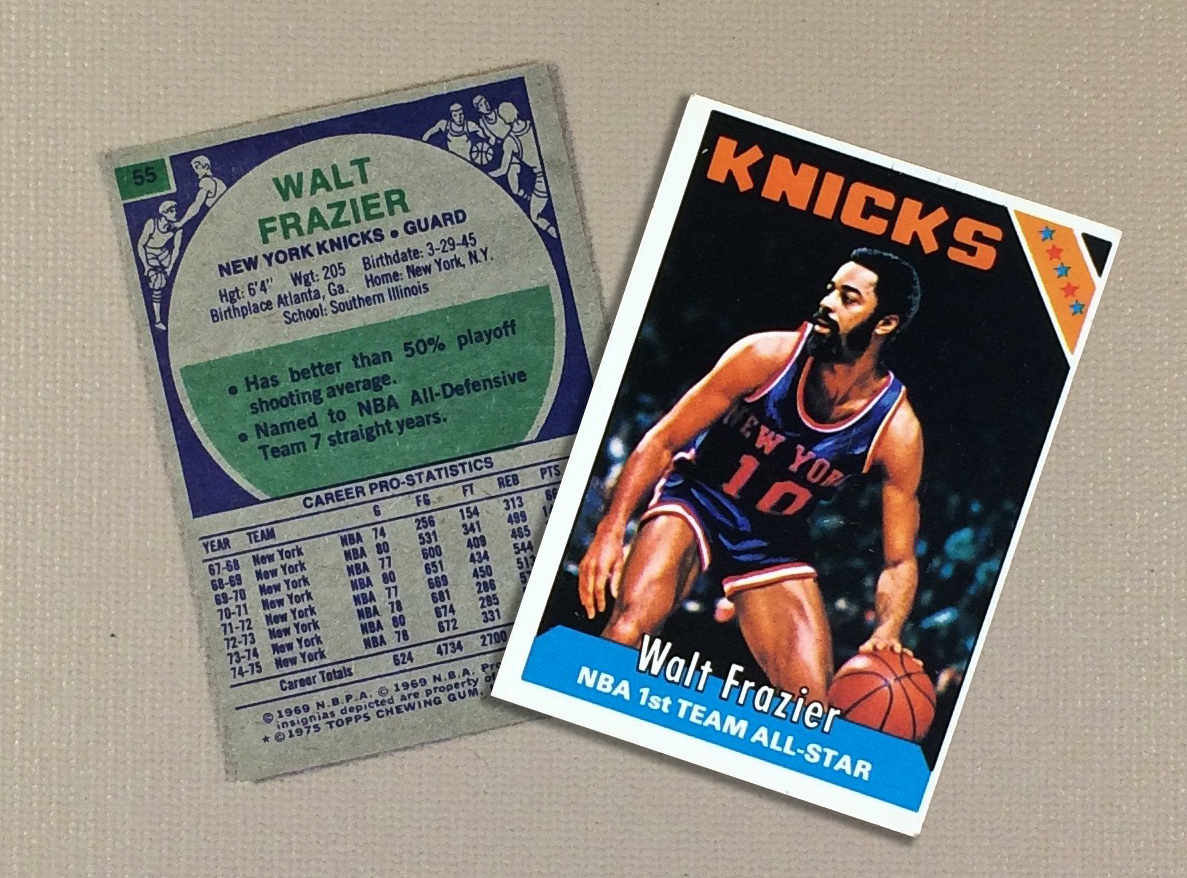 1976 New York Knicks Walt Frazier Collectors Card