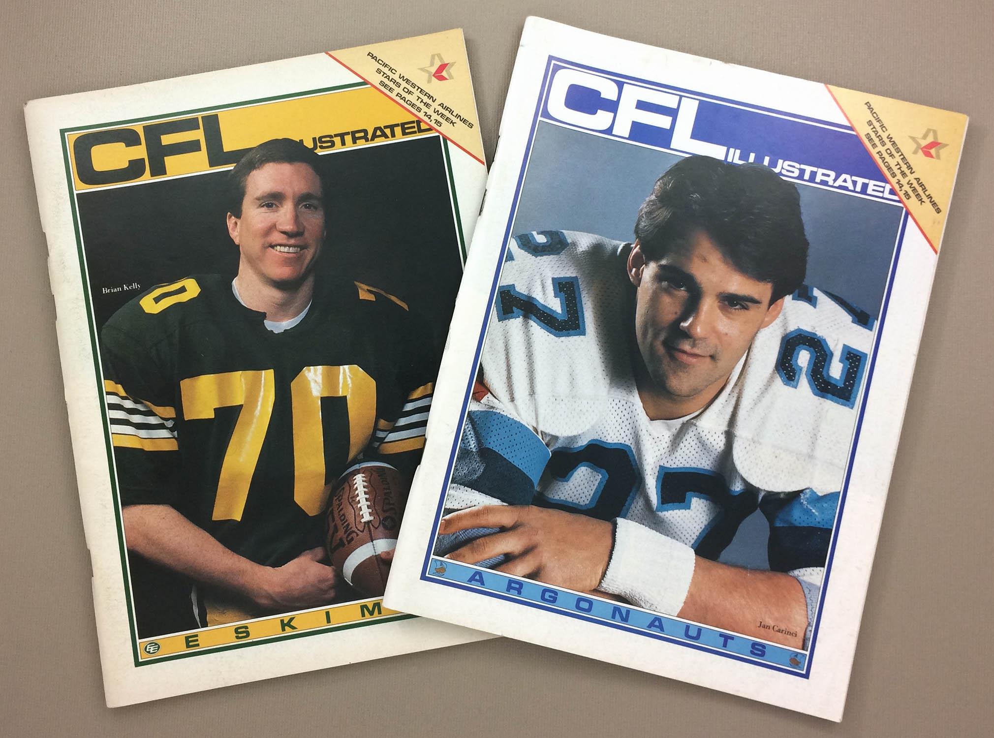 1985 CFL Illustrated Program Set