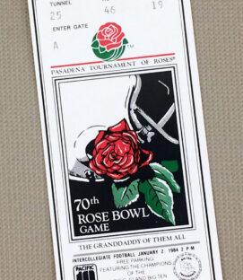 Rose Bowl 1984 Ticket Stub