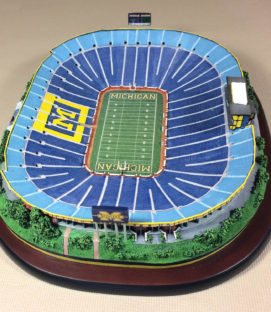 Danbury Mint Michigan Stadium Replica