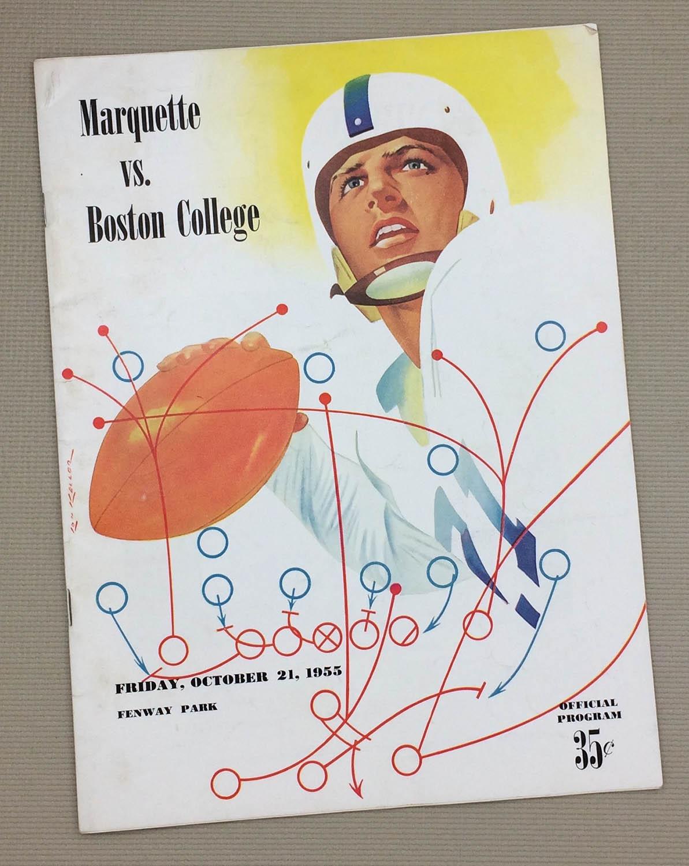 Boston College Marquette 1953 Program