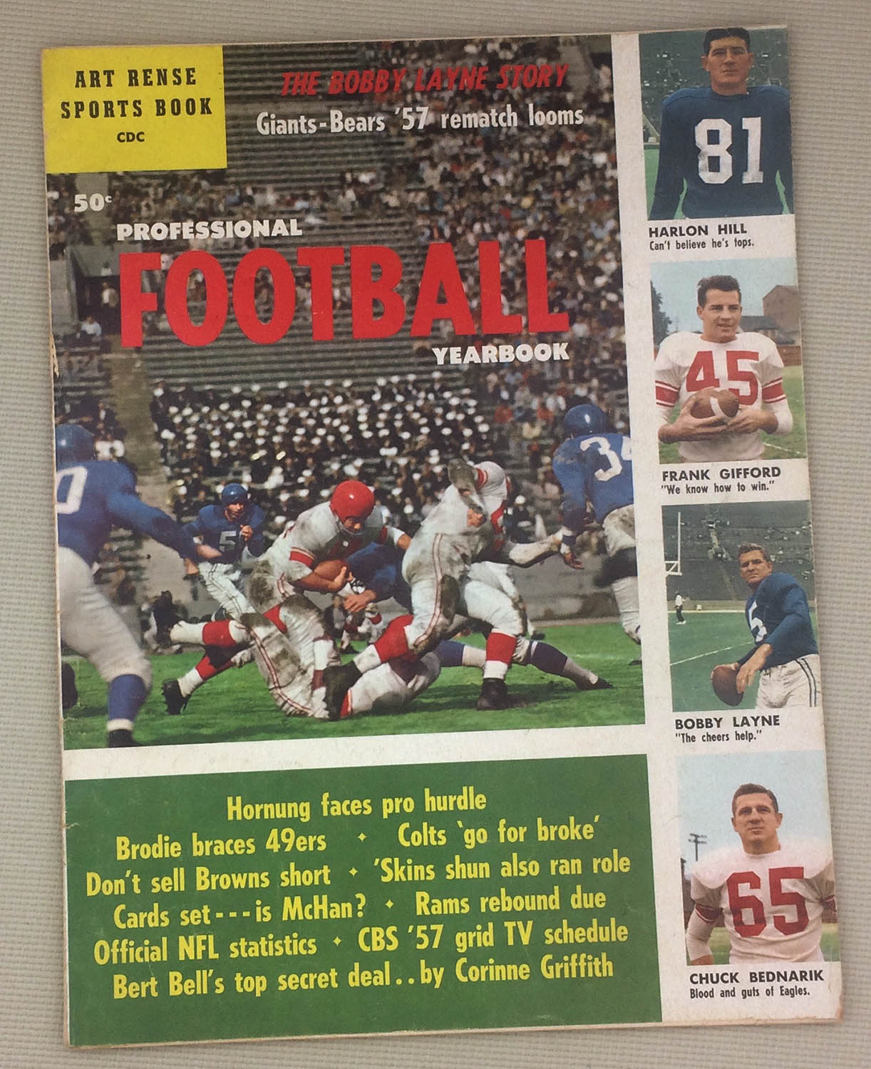 Professional Football Yearbook 1957