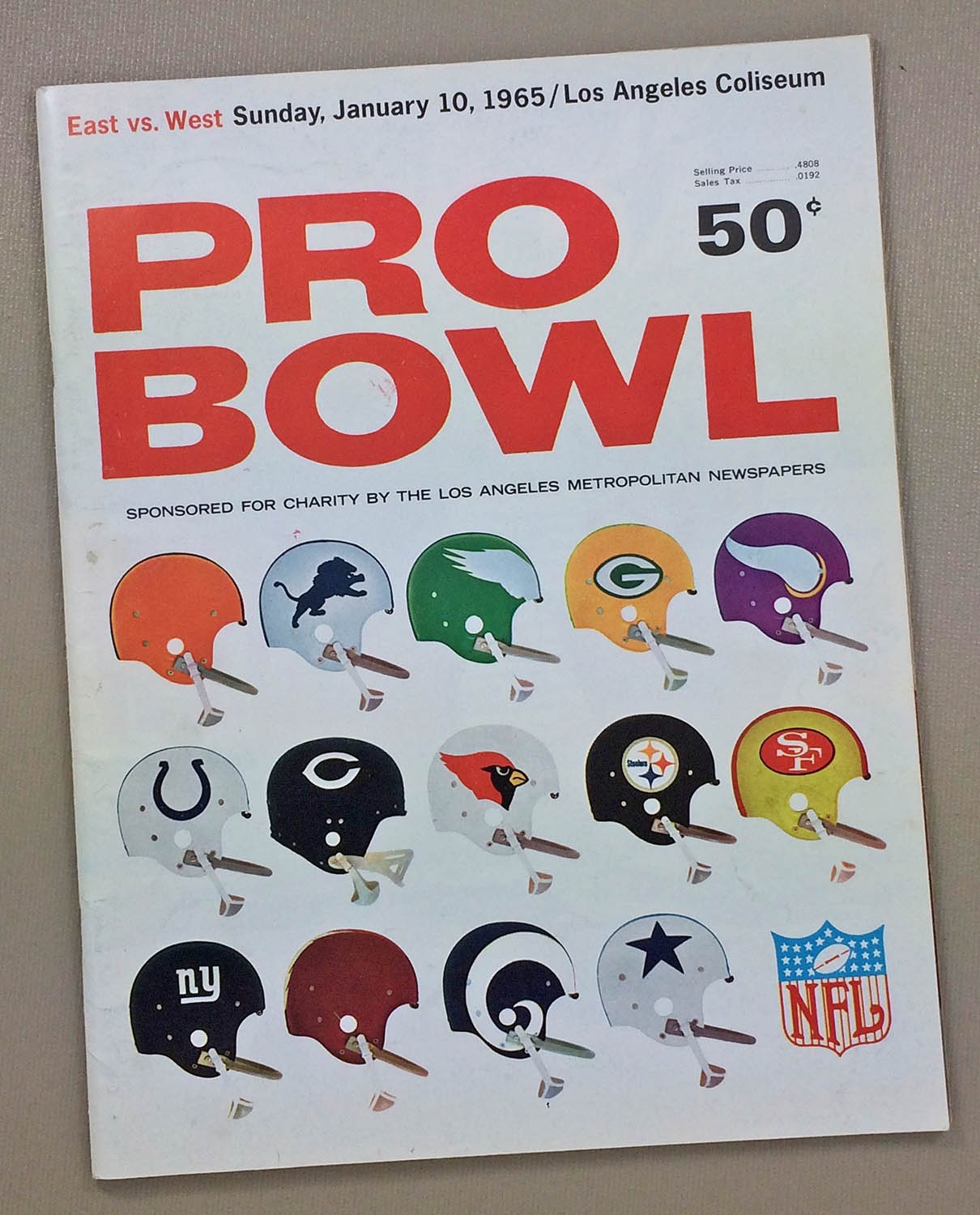 1965 Pro Bowl Program