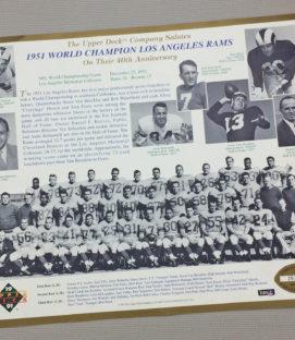 Los Angeles Rams 1951 Team Photo