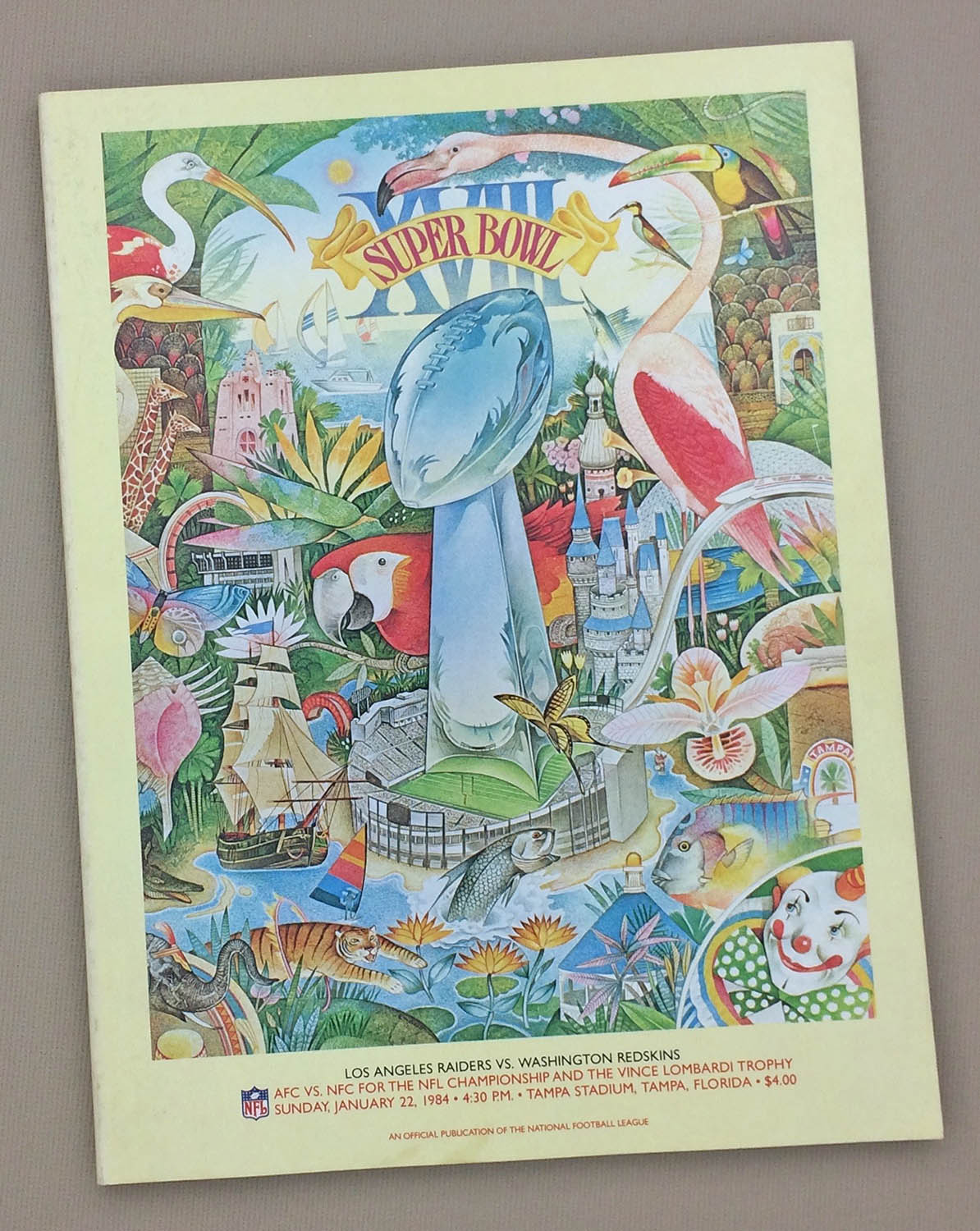 Super Bowl XVIII 1984 Program