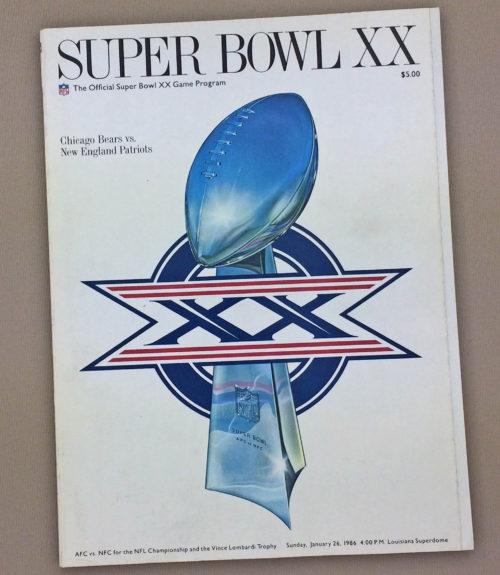 Super Bowl XX 1986 Program