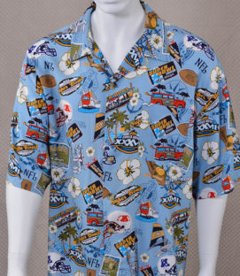 Super Bowl XXXVII Hawaiian-style Shirt
