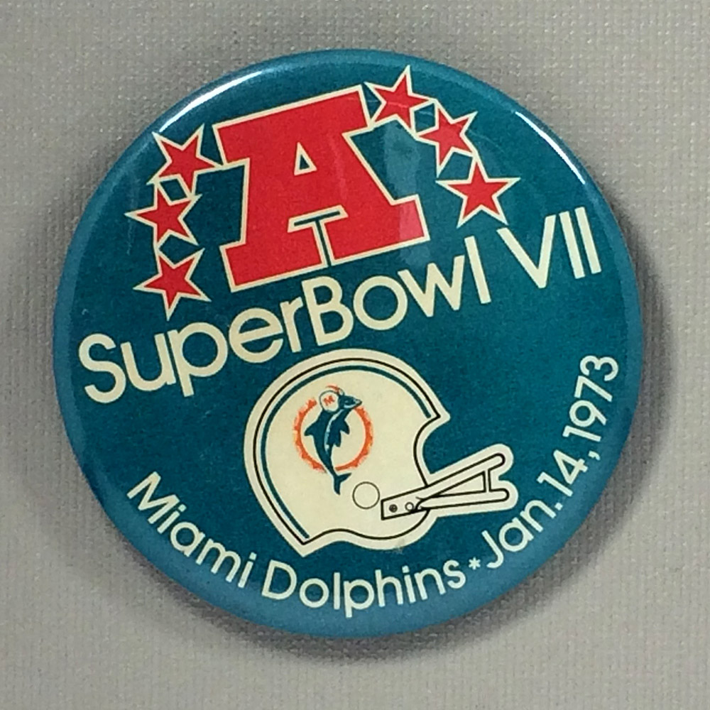 1973 Super Bowl VII Button